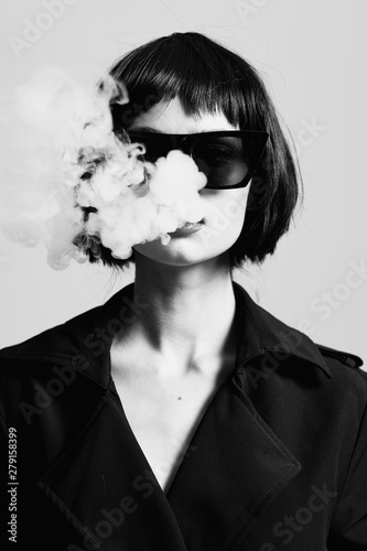 Fotografia portrait of young woman with perfect skin of her face