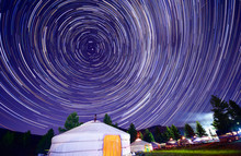 The Star Trails Of The Night O...