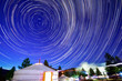 canvas print picture - The Star trails of the Night of Mongolia