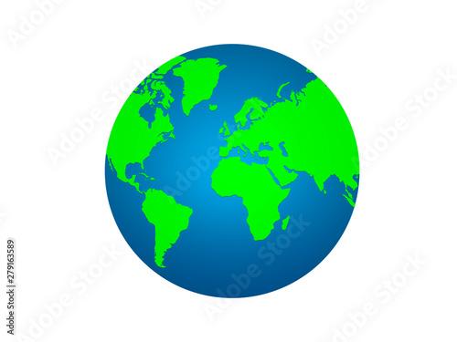 Earth planet globe on white background  world icon symbols