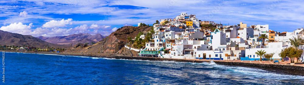 Fototapety, obrazy: Fuerteventura holidays - scenic coastal village Las Playitas. Canary islands of Spain
