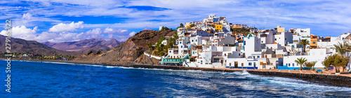 Fotoposter Eigen foto Fuerteventura holidays - scenic coastal village Las Playitas. Canary islands of Spain