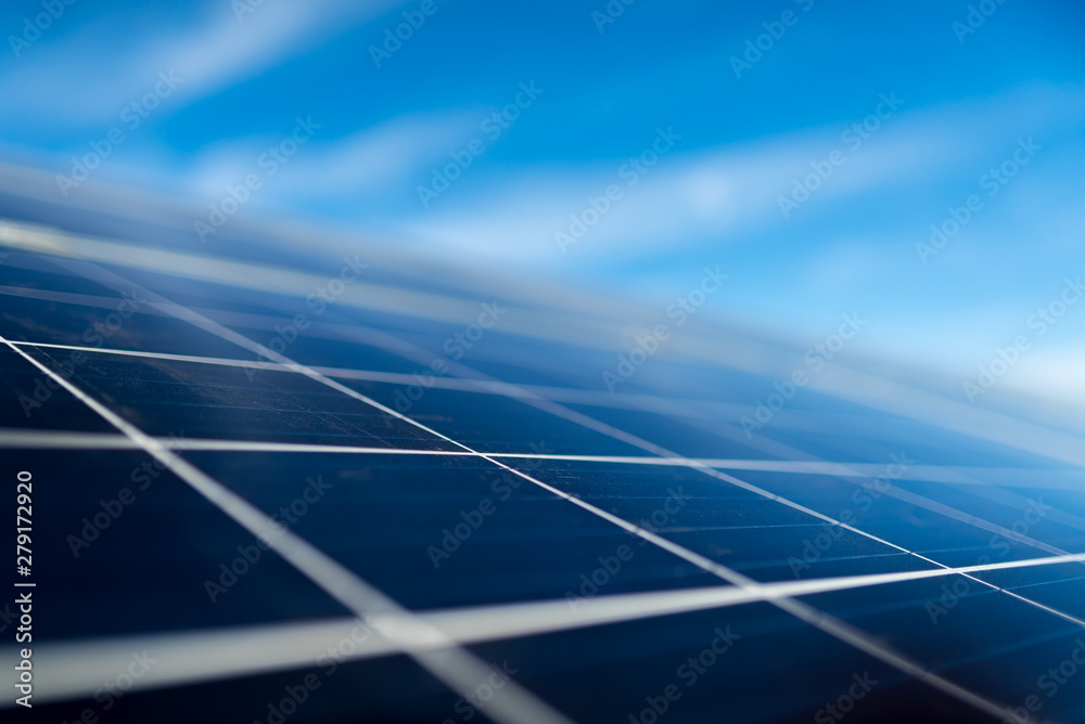 Fototapety, obrazy: solar panel on sky background