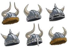 Cartoon Metal Viking Warrior H...