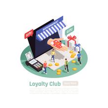 Loyalty System Isometric Backg...
