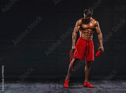 Fotografia  Handsome Athletic Men after Cardio Workout