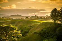 Sunset Landscape New Zealand N...