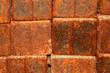 Background, texture of rusty metal blocks.