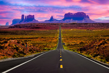 Forest Gump Movie Jogging Scene At Monument Valley