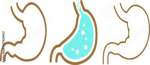 Fotografie, Tablou  Stomach icon on white background