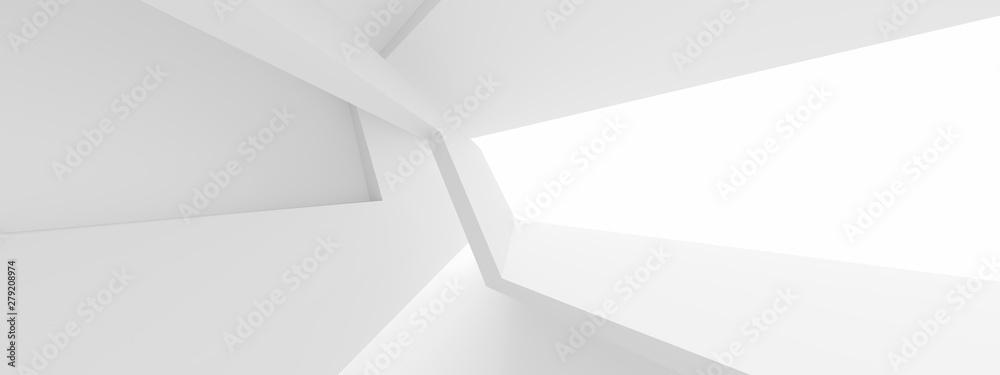 Fototapeta Minimal Architecture Design. White Industrial Wallpaper