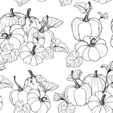 Line Art Seamless Pattern With...