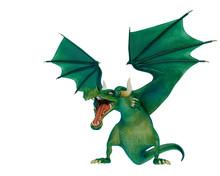 Dragon Cartoon Attacking