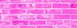 canvas print picture - Pink cracked brickwork