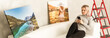 canvas print picture - Home interior poster or painting canvas design template