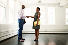 Man Shaking Hands With Real Estate Agent