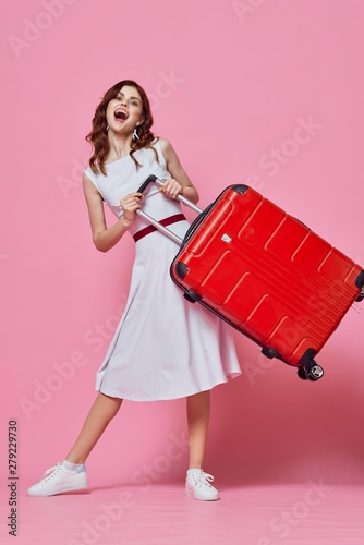 Fototapety, obrazy: young woman with shopping bags