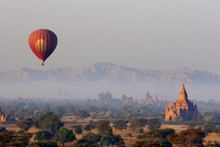 View Of Hot Air Balloon Over T...
