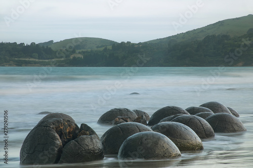 Moeraki Boulders on Koekohe Beach, Otago, South Island, New Zealand Wallpaper Mural