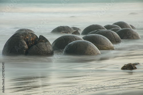 Moeraki Boulders on Koekohe Beach, Otago, South Island, New Zealand Canvas Print