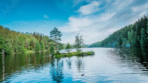 Nøklevann, noklevann, jezioro, oslo, norwegia, norge, norway, drzewo, woda, starorzecze, ostmarka, Østmarka, skandynawia, scandinavia