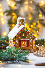 Christmas Gingerbread House. H...