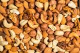 Fototapeta Kawa jest smaczna - Mixed Nuts Texture Top-down View
