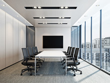 Modern Meeting Room Interior. ...