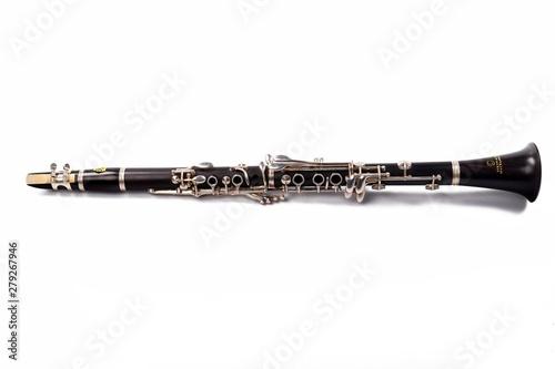 Clarinet On White Background Fototapet
