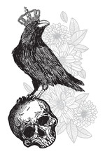 Tattoo Art Crow Wearing A Crow...