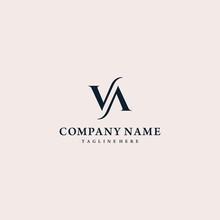 Luxurious Letter VA Logo Design Vector Illustration