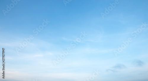 Aluminium Prints Heaven Air clouds in the blue sky