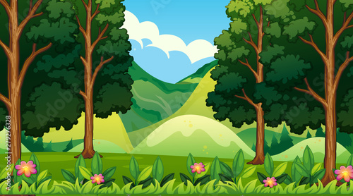 Poster Jeunes enfants Empty background nature scenery