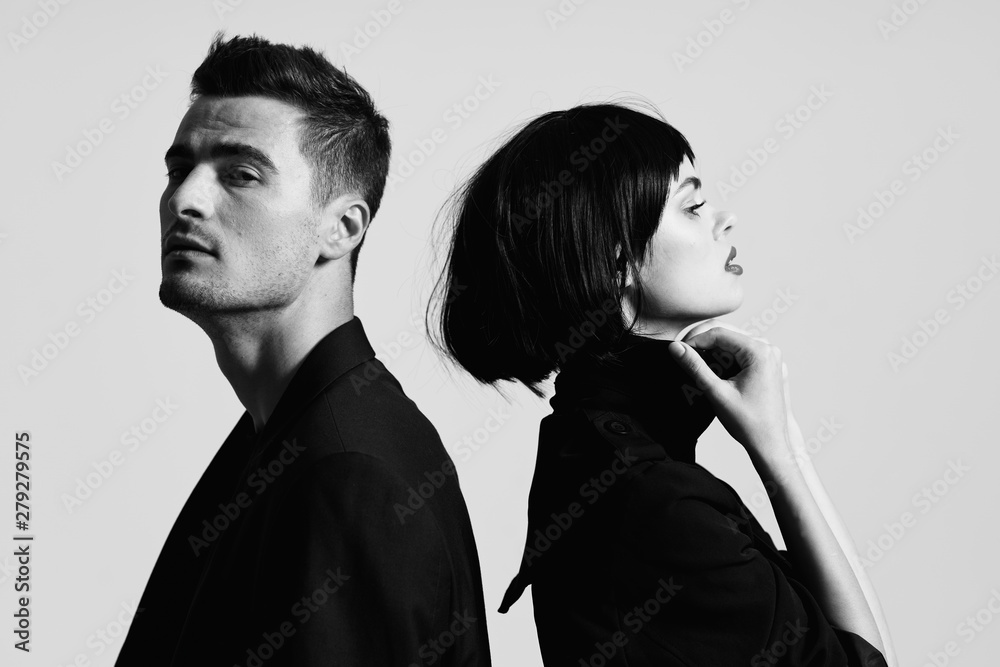 Fototapeta man and woman