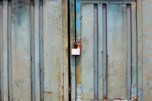 Metal Rusty Door With Lock In ...