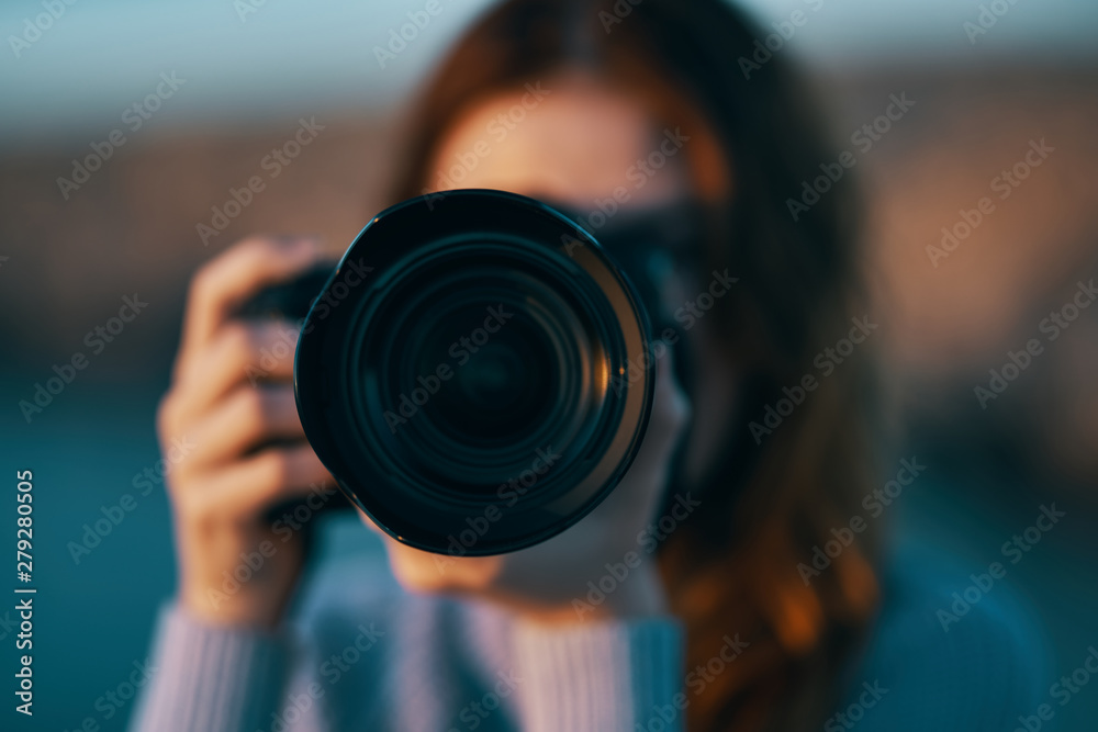 Fototapety, obrazy: photographer with camera