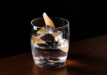 Vodka Cocktail With A Lemon Peel Garnish