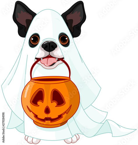 Tuinposter Sprookjeswereld Halloween dog