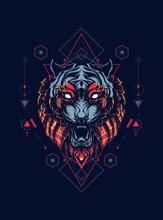 Wild Tiger Head Logo Illustrat...