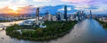 Panorama Of Brisbane Skyline A...
