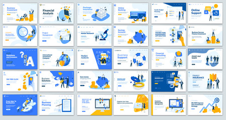 Collection of Modern design- website template, Set of web page design templates for business, management app, consulting, social media marketing. Modern vector illustration concepts