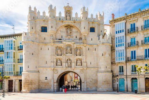 View at the City gate Arco de Santa Maria in Burgos - Spain