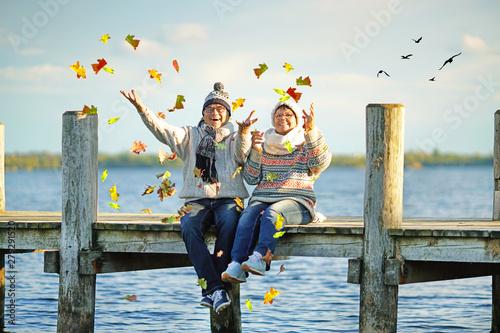 Fotografie, Obraz  magischer Herbsttag am See