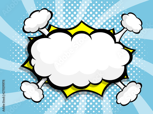Fotografie, Obraz  blank speech bubble pop art, comic book