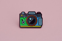 Enamelled Metal Brooch Camera ...
