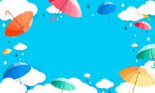 Raining Season Background Vect...