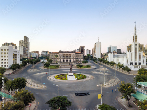 Fototapeta  Independence square with City Hall and main Cathedral in Maputo, Mozambique