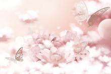 Pastel Pink Paper Flowers And ...