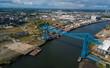 The Tees Transporter Bridge at Middlesbrough