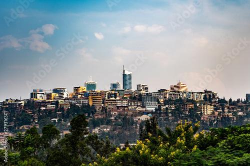 Foto op Canvas Barcelona Kigali Skyline Ruwanda Ruanda Hauptstadt
